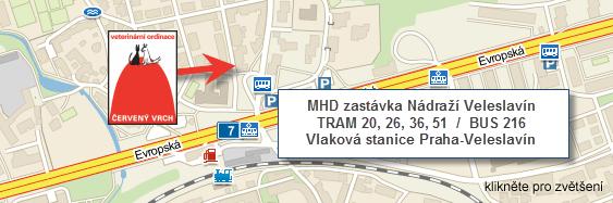 Veterina Praha 6, mapa